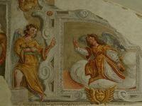 Arcangelo Gabriele: particolare del dipinto murale