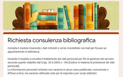Modulo per la richiesta di consulenza bibliografica